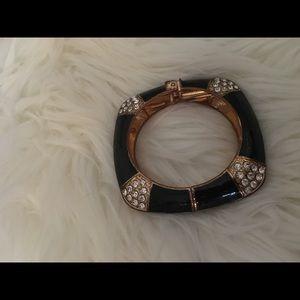 Antique Black Gold cuff bracelet